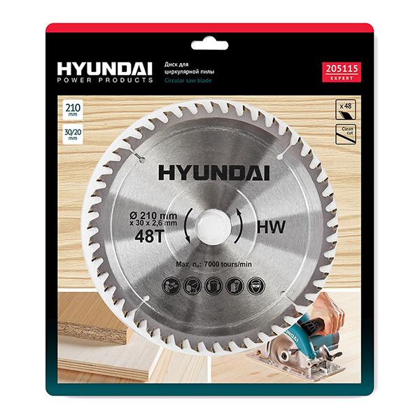 Купить Диск пильный по дереву Hyundai D210mm, 48T, D30/20mm недорого в Екатеринбурге